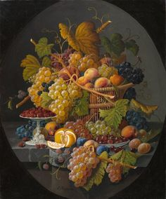 Still Life with Fruit, Severin Roesen, circa 1855–1860, Gift of the North Carolina State Art Society (Robert F. Phifer Bequest), in honor of Mr. and Mrs. Charles Lee Smith Jr.