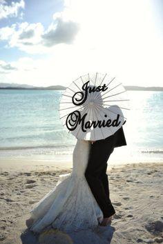 Great beach wedding photo!