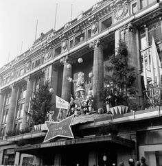 1953. Christmas display at Selfridges. London