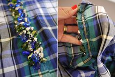 I immediately did a double take after spotting this shirt with baubles stitched down the