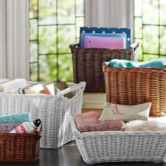 white baskets set of 2   $66