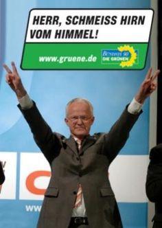Wahlplakat der Grünen