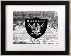 Oakland Raiders StadiumScape Logo Print by DigiDesignPrints