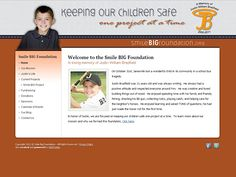 Specialty website for the Smile Big Foundation by VGM Forbin.