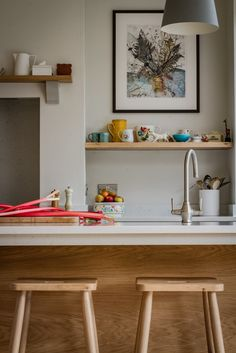 This Scandinavian woodland inspired kitchen with its oak, birch, beech and pine…