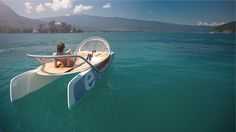 Ceclo is a modern times pedalo, to bold and sensuous design, for relaxation and daydreaming, couple or family.