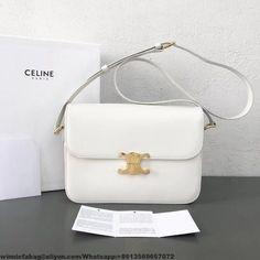Celine Shiny Calfskin Medium Triomphe Bag 2019 Online Email 1d496ad36502e