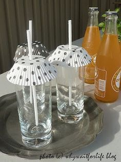 Protect those drinks with cupcake paper! Summer Soirees~