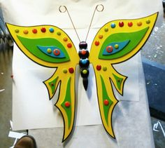 My newest butterfly with art glass on wings & body