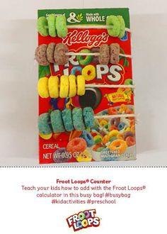 Froot Loops® Counter – ¡Enseña a tus hijos a sumar y restar con el contador de Froot Loops® en esta actividad!
