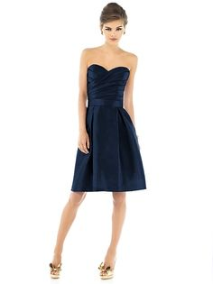 Have this at Rebecca's, Bridal Warehouse, and Cher's Alfred Sung Style D538 http://www.dessy.com/dresses/bridesmaid/d538/?color=midnight&colorid=47#.VPIBqzkx9Ec