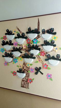 Raai de kraai Art Plastique, Art Activities, Spring Crafts, Creations, Jar, Birds, Ornaments, Birthday, Mural Painting