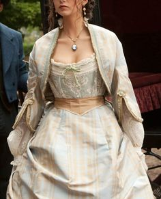 Vampire Diaries Katherine Pierce (Katerina Petrova) 1864 Carriage Dress Replica - Pastel tartan Victorian Civil War era Crinoline dress, with White lace bodice, tartan silk skirt. £50 DEPOSIT THEN FROM ONLY £16.31 PER WEEK - https://www.mentalxs.com/products/cpvd01katcar-r