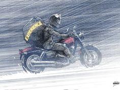 Quem andar de moto até não pode mais? - A prática do motociclismo não é tolerante com pessoas fracas de espírito ou músculo. Se você não é capaz de
