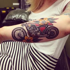 Rad motorbike tattoo