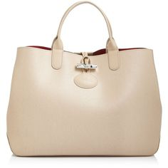 Longchamp Medium Roseau Reversible Shoulder Tote (4,140 GTQ) ❤ liked on Polyvore featuring bags, handbags, tote bags, handbags totes, shoulder tote, lightweight tote, longchamp handbags and lightweight tote bag