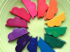 Cloud shaped crayons (could make them in any size, using cookie cutters)