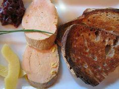 Foie Gras at Les Pipos, Paris.  As big as a chicken cutlet no joke.