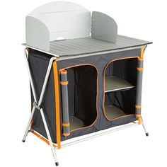 Ultrasport Camping Kitchen Foldable Cupboard with 3 Shelves and Work Surface, Camping Cupboard for Cookware, Food & Camping Accessories Including Wind Protection & Storage Bag, x x cm Backpacking Gear, Camping And Hiking, Camping Gear, Hiking Wear, Armoire, Camping Furniture, Camping Table, Thing 1, Camping Accessories