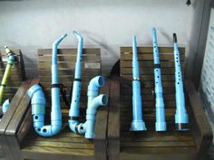 super Ideas music instruments instrumentos musicalesYou can find Homemade instruments and more on our super Ideas music instruments instrumen. Instrument Craft, Homemade Musical Instruments, Making Musical Instruments, Pvc Pipe Projects, Music Wall, Music Activities, Music For Kids, Music Classroom, Teaching Music