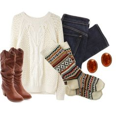 """""""Knit Knee-Highs"""" by qtpiekelso on Polyvore"""
