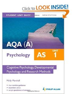 AQA A AS Psychology Student Unit Guide: Cognitive Psychology, Developmental Psychology and Research Methods: Unit 1: Amazon.co.uk: Molly Marshall: Books