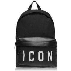 DSquared² Black Icon Backpack for men Mens Designer Accessories, Valentino Camouflage, Cruise Fashion, Men's Fashion Brands, Mens Flannel, Acid Wash Jeans, Designer Backpacks, Casual Bags, Classic Leather
