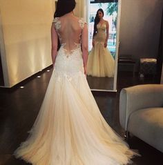 wedding dress  If i have a body like this, i will so wear this gown