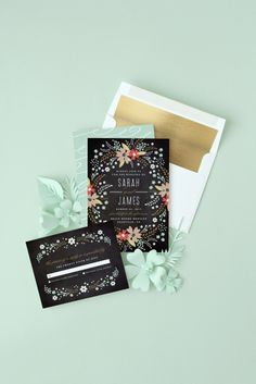 Gold Foil and Gold Glitter Liners on http://www.minted.com/sem/wedding