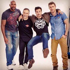 Henry Simmons, Nick Blood, Brett Dalton, Luke Mitchell || Instagram || 720px × 720px || #cast
