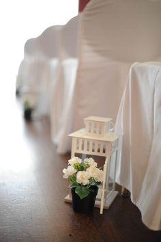 wedding aisle, lantern