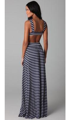 Stipe Cutout Dress - honeymoon dress?
