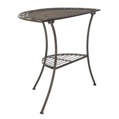 Highland Dunes Graddy End Table Colour: Aged Bronze #PlayGameOnline Star Citizen, Iron Storage, Space Games, Play Game Online, End Tables, Hue, Bronze, Entertaining, Colour