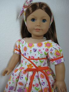 18 Inch Doll Clothes American Girl  1950s Dress in by nayasdesigns~:):)