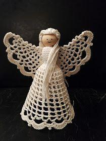 Crochet Angels, Wings, Christmas Ornaments, Disney Princess, Disney Characters, Holiday Decor, Art, Xmas, Art Background