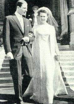 Wedding of Princess Isabelle of France  and Count Friedrich-Karl of Schönborn-Buchheim: 1964