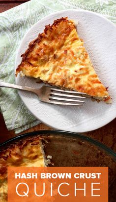 Two of our favorite breakfast foods come together to form this custardy, cheesy quiche.