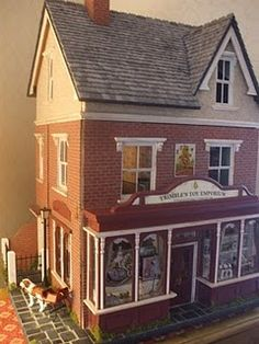 """Idea for adding a """"basement"""" to inexpensive dollhouse kit."""