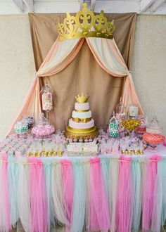 Princess Baby shower candy table