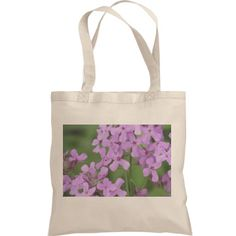 Tote with 2 sided flower photo | Nice tote with photo of pink flowers on both sides.