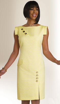 Designer Church Suits carries The World's largest selection of womens church suits, church hats & church dresses. African Fashion Dresses, African Dress, Fashion Outfits, Church Suits, Church Dresses, Simple Dresses, Cute Dresses, Short Dresses, Cocktail Vestidos