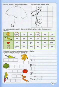 Polish Language, Cute Coloring Pages, Kids Reading, Pre School, Kids And Parenting, Literacy, Teacher, Education, Handmade