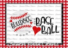 Bulldogs Baseball SVG love htv T shirt Design Vinyl  SVG and DXF Files Electronic Cutting Machines, Silhouette, Cameo, Cricut, Instant Down by SweeterThanOthers on Etsy
