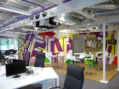 Design Agency Office Mural by Soulful Creative, via Behance