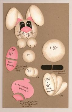 Easter Bunny handmade card made with Punches. Description from pinterest.com. I searched for this on bing.com/images
