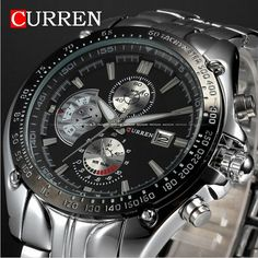 Relojes de hombre 2015 militar CURREN relojes hombres ocasionales del Mens relojes primeras marcas de lujo hombres cuarzo reloj deportivo Relogio Masculino en Relojes business de Relojes en AliExpress.com | Alibaba Group