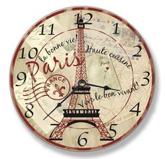 Stupell Home Decor Collection Paris Eiffel Tower Wall Clock by Stupell Home Décor Collection Paris Themed Bedroom Decor, Paris Room Decor, Paris Rooms, Paris Bedroom, Bedroom Themes, Paris Bedding, Bedrooms, Bedroom Ideas, Paris Theme Decor