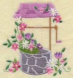 Machine Embroidery Designs at Embroidery Library! Machine Embroidery Applique, Free Machine Embroidery Designs, Embroidery Stitches, Embroidery Patterns, Hand Embroidery, House Quilt Patterns, Embroidery Suits Design, Quilted Gifts, Embroidered Quilts