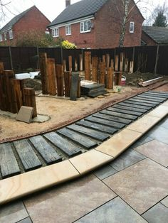 At Neots garden today, great to see the boardwalk going down..