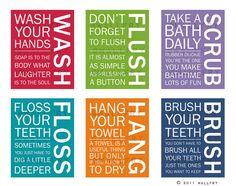 Decoración del cuarto de baño. Reglas de baño para por Wallfry